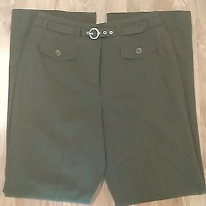 Dressbarn Dark Olive Green Dress Pants. Sz 6
